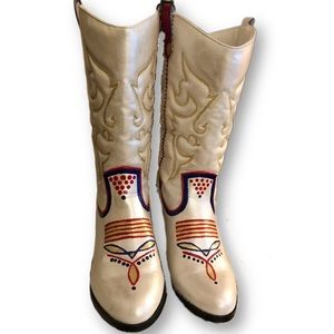 Hand-painted western cowboys boots 8